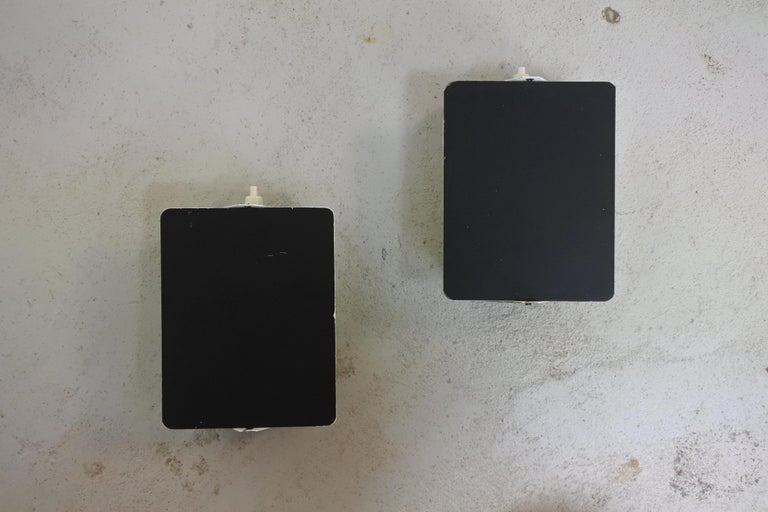 Pair of Charlotte Perriand CP1 Black Metal Sconces, France, Late 1960s For Sale 1