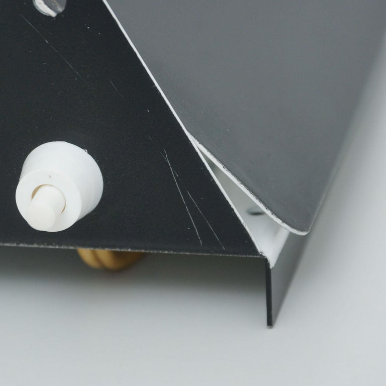 Pair of Charlotte Perriand Mid-Century Modern Black Metal CP-1 Wall Light, 1960 For Sale 6