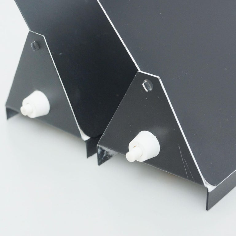 Pair of Charlotte Perriand Mid-Century Modern Black Metal CP-1 Wall Light, 1960 For Sale 3