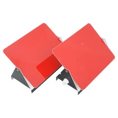 Pair of Charlotte Perriand, Mid-Century Modern Red Metal CP-1 Wall Light, 1960