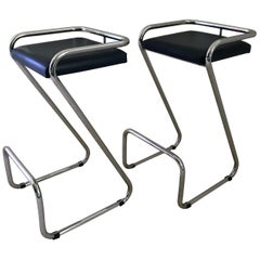 Pair of Charlotte Perriand Style Bar Stools /Kitchen Stools