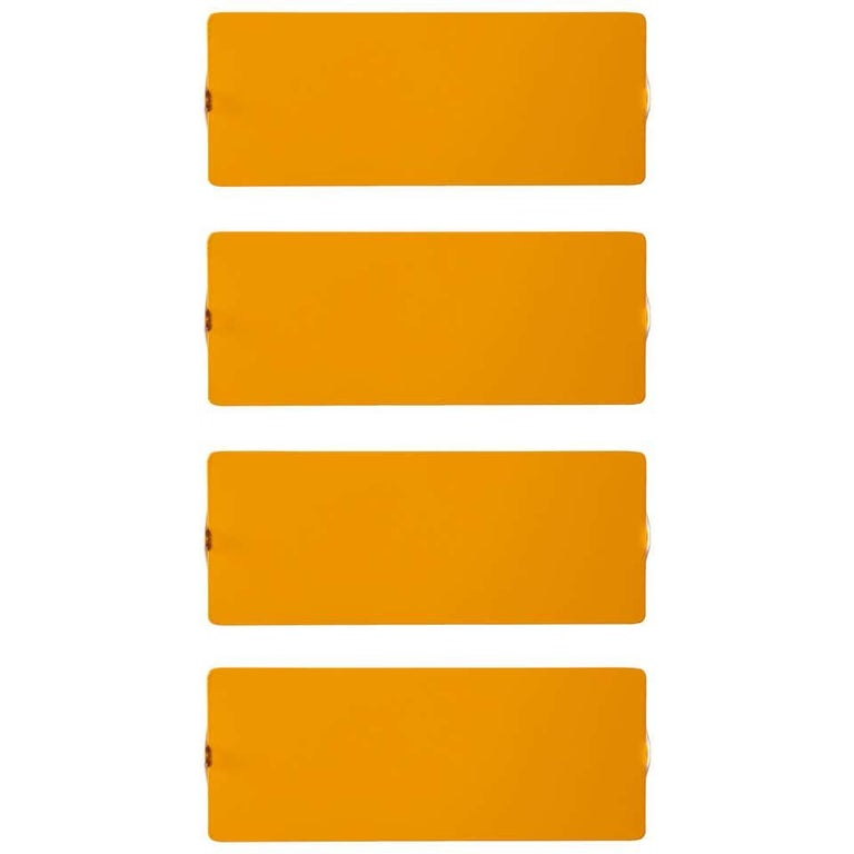 Pair of Charlotte Perriand Yellow 'Applique Á Volet Pivotant' Wall Lights For Sale 1