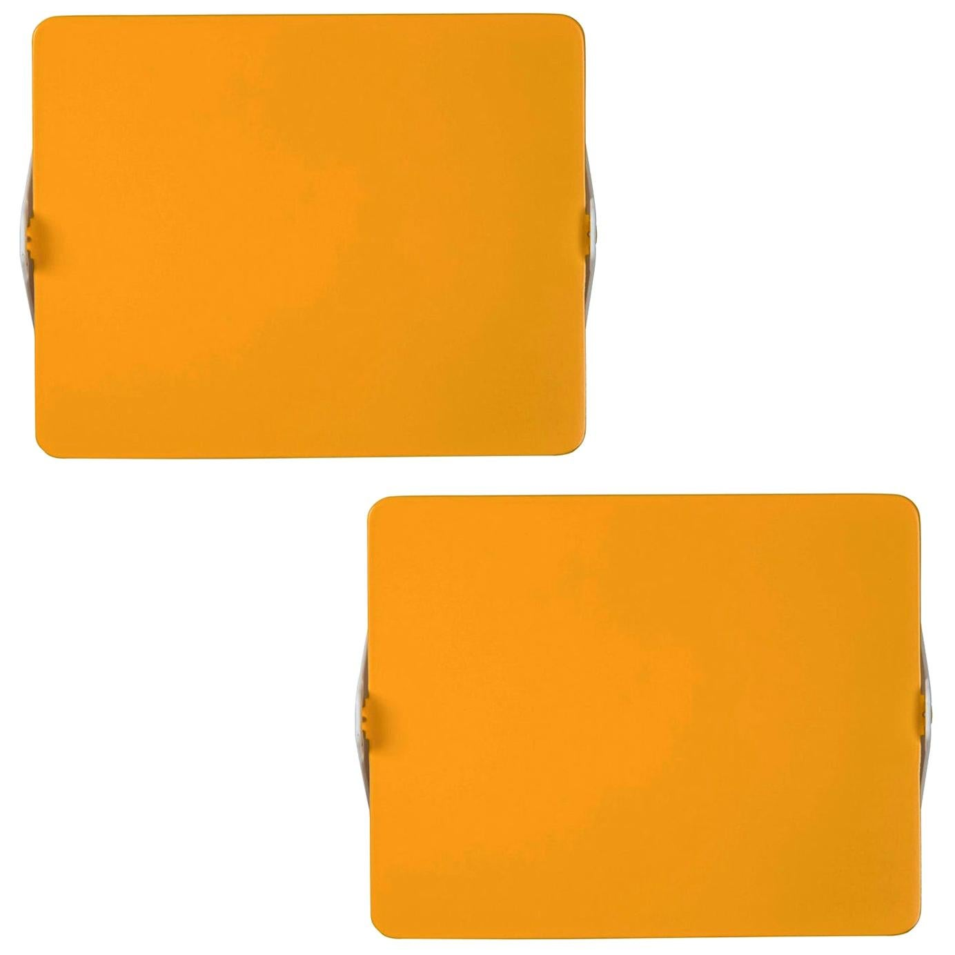 Pair of Charlotte Perriand Yellow 'Applique Á Volet Pivotant' Wall Lights