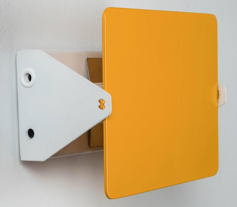 Painted Pair of Charlotte Perriand Yellow 'Applique Á Volet Pivotant' Wall Lights For Sale