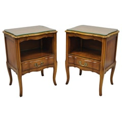 Pair of Cherrywood French Provincial Nightstand Bedside Tables White Furniture