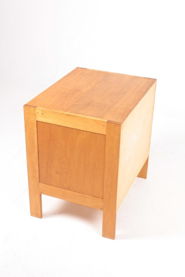 Pair of Chest of Drawers in Oak and Wenge, Made in Denmark, 1960s 4