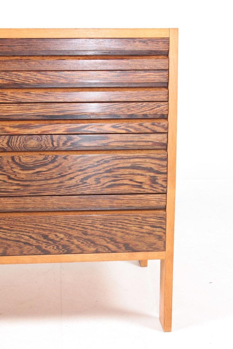 Pair of Chest of Drawers in Oak and Wenge, Made in Denmark, 1960s 5
