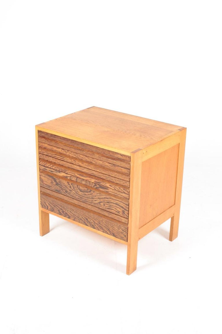 Mid-20th Century Pair of Chest of Drawers in Oak and Wenge, Made in Denmark, 1960s