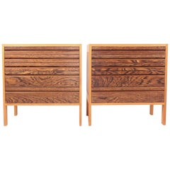 Pair of Chest of Drawers in Oak and Wenge, Made in Denmark, 1960s
