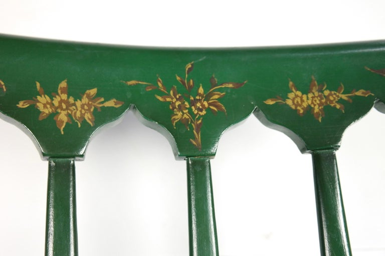 Pair of Chiavari Chairs, 1950s Italian Design, Original Paint and Cane Seats For Sale 7