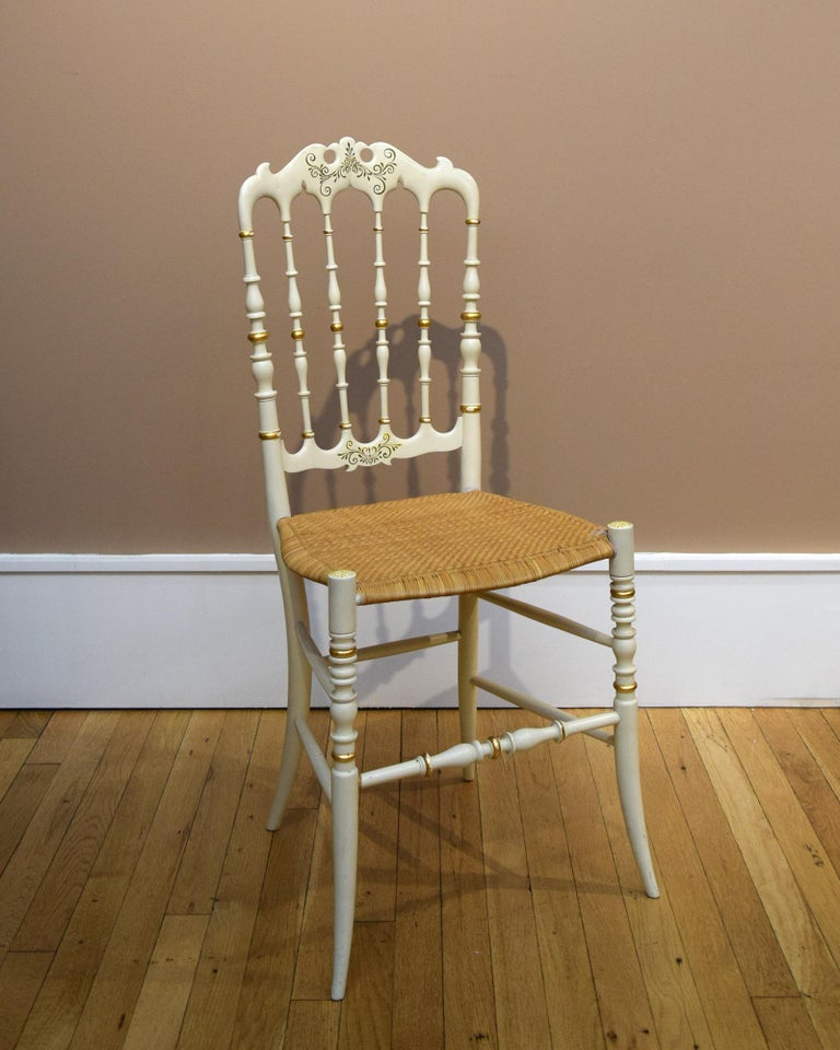 Victorian Pair of Chiavari Chairs For Sale