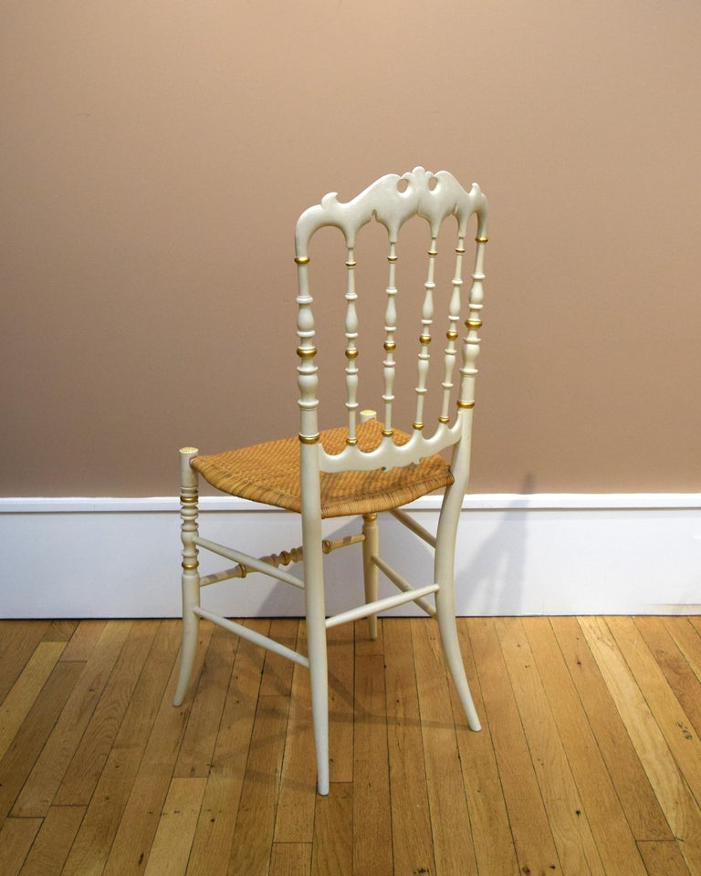 Italian Pair of Chiavari Chairs For Sale