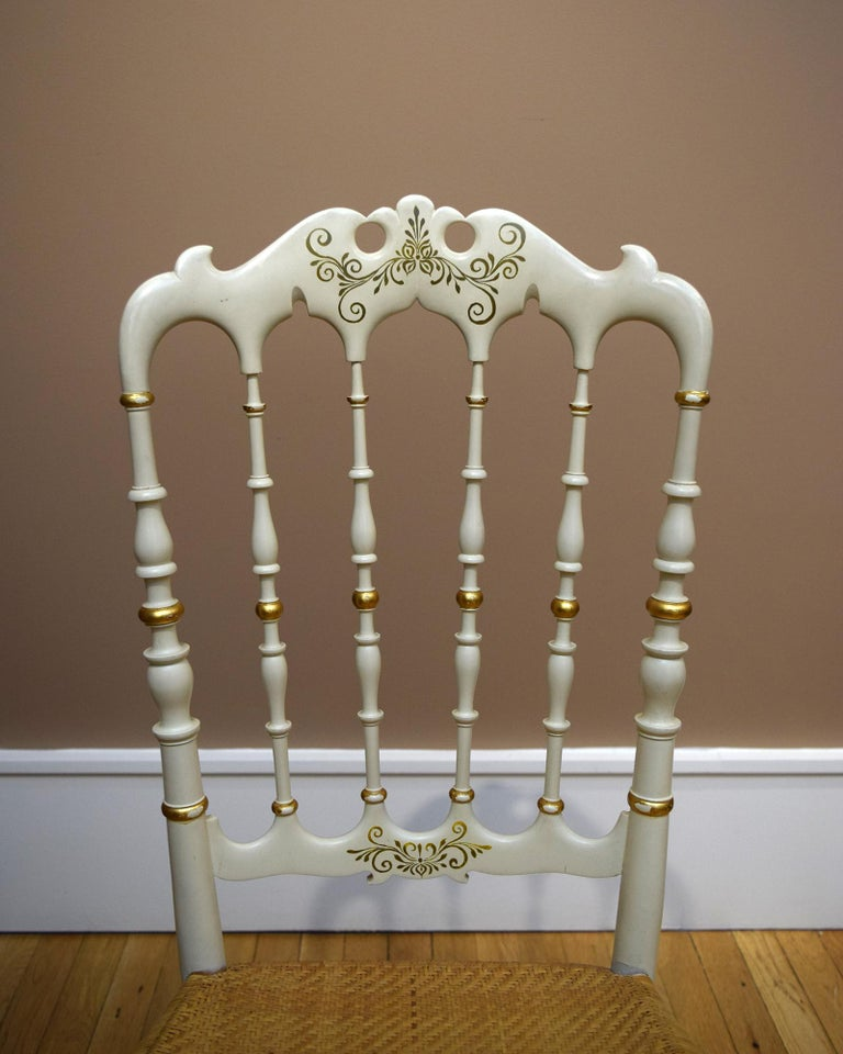 Caning Pair of Chiavari Chairs For Sale
