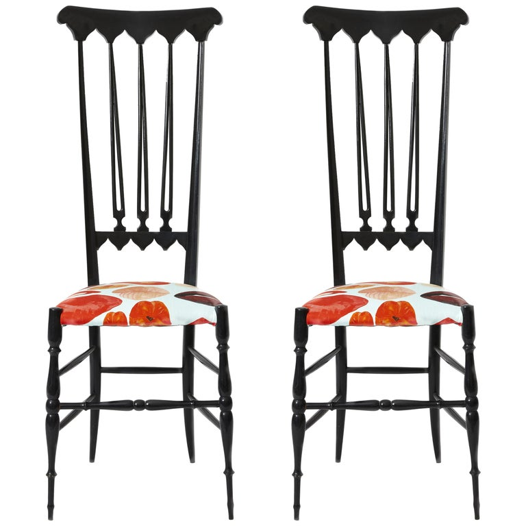 Pair of Chiavari Chairs Model Spada For Sale