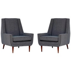 Pair of Chic American Midcentury Armchairs