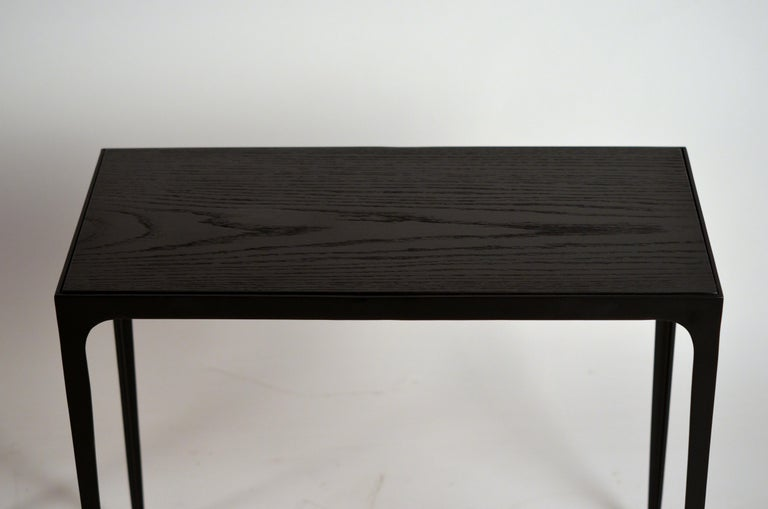 Pair of Chic Ebonized Oak 'Esquisse' Side Tables by Design Frères In New Condition For Sale In Los Angeles, CA