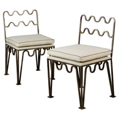 Pair of Chic 'Méandre' Side Chairs by Design Frères