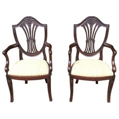 Pair of Child Size Mahogany Hepplewhite Style Late 19th Century Armchairs