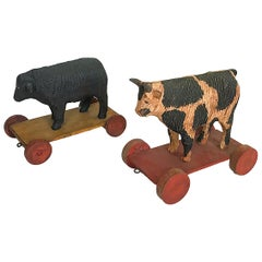 Pair of Child's Pull Toys