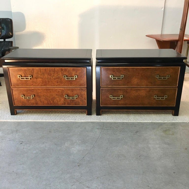 American Pair of Chin Hua Two-Drawer Chests by Ray Sabota for Century Furniture For Sale