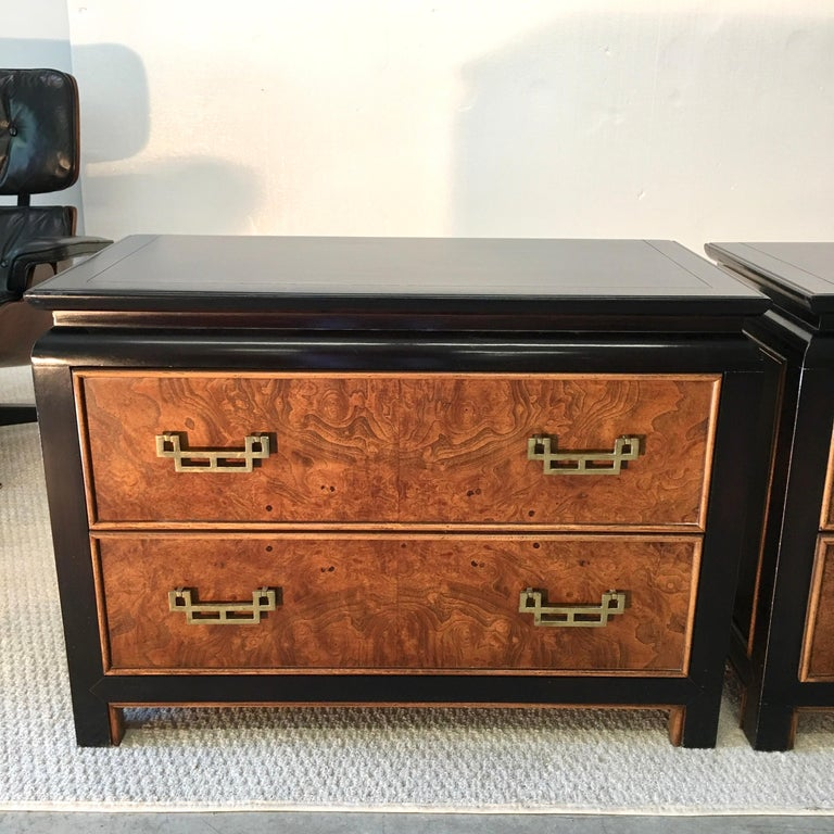 Pair of Chin Hua Two-Drawer Chests by Ray Sabota for Century Furniture In Good Condition For Sale In Hingham, MA
