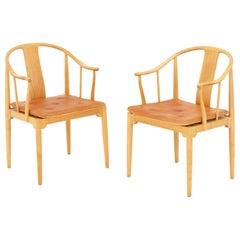 Pair of China Chairs by Hans J. Wegner