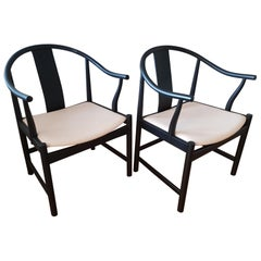 Pair of China Chairs PP56 Personal Edition by Hans J. Wegner for PP Mobler