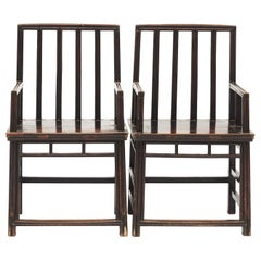 Pair of Chinese Architetural Armchairs