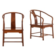 Pair of Chinese Armchairs in Mahogany