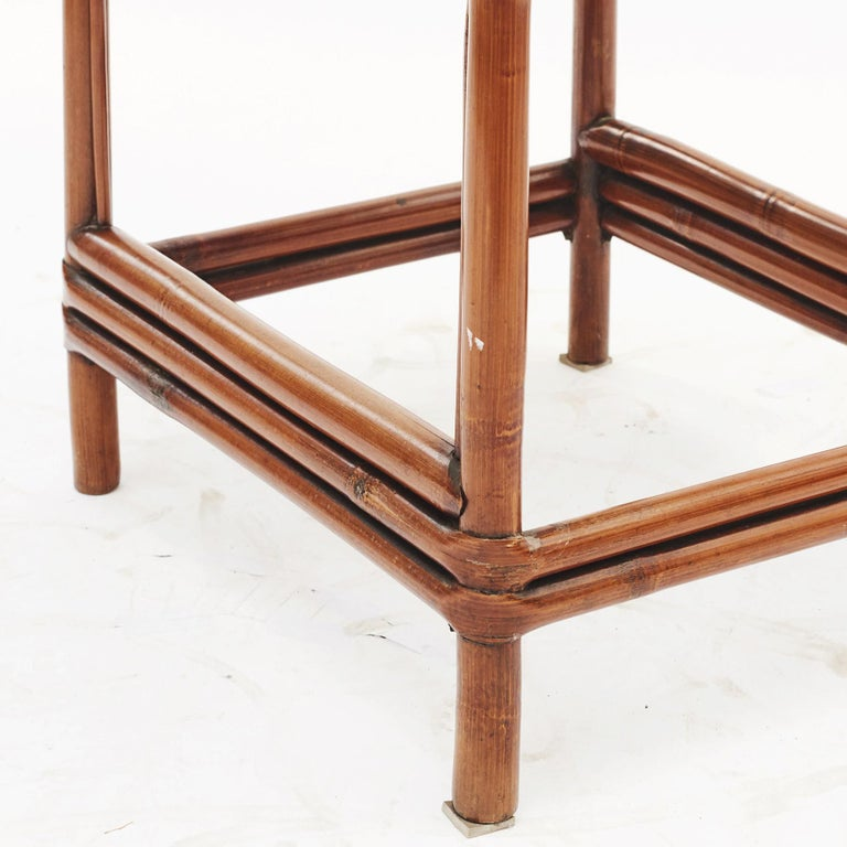Pair of Chinese Art Deco Bamboo Chairs For Sale 3