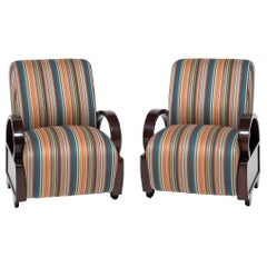 Pair of Chinese Art Deco Club Chairs