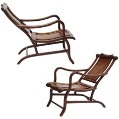 Pair of Chinese Art Deco Reclining Chairs
