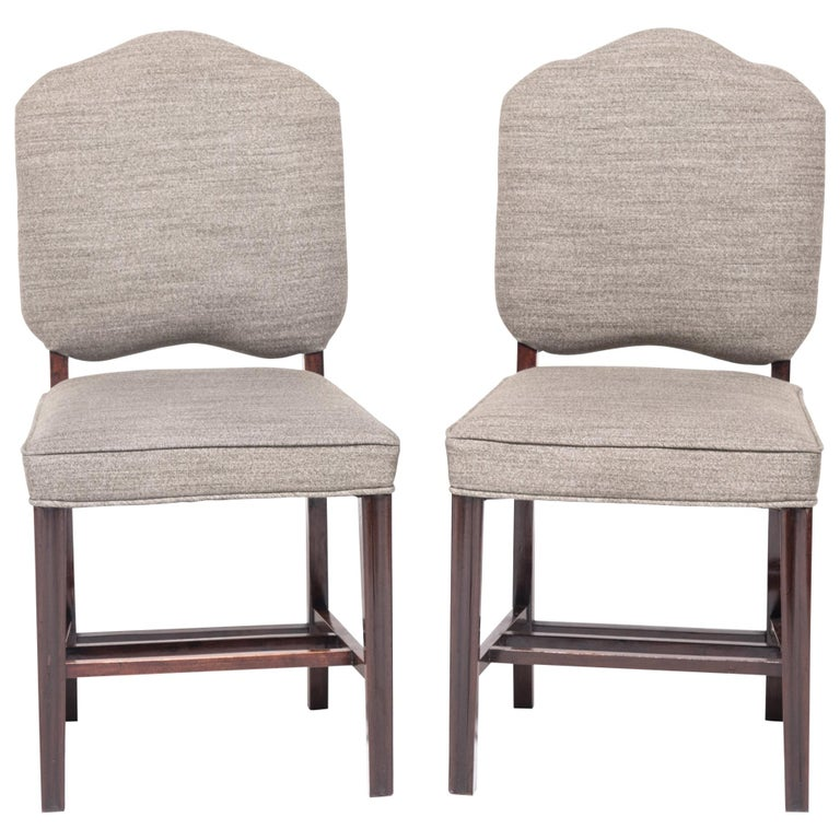 Pair of Chinese Art Deco Dining Chairs, circa 1920-1930s For Sale