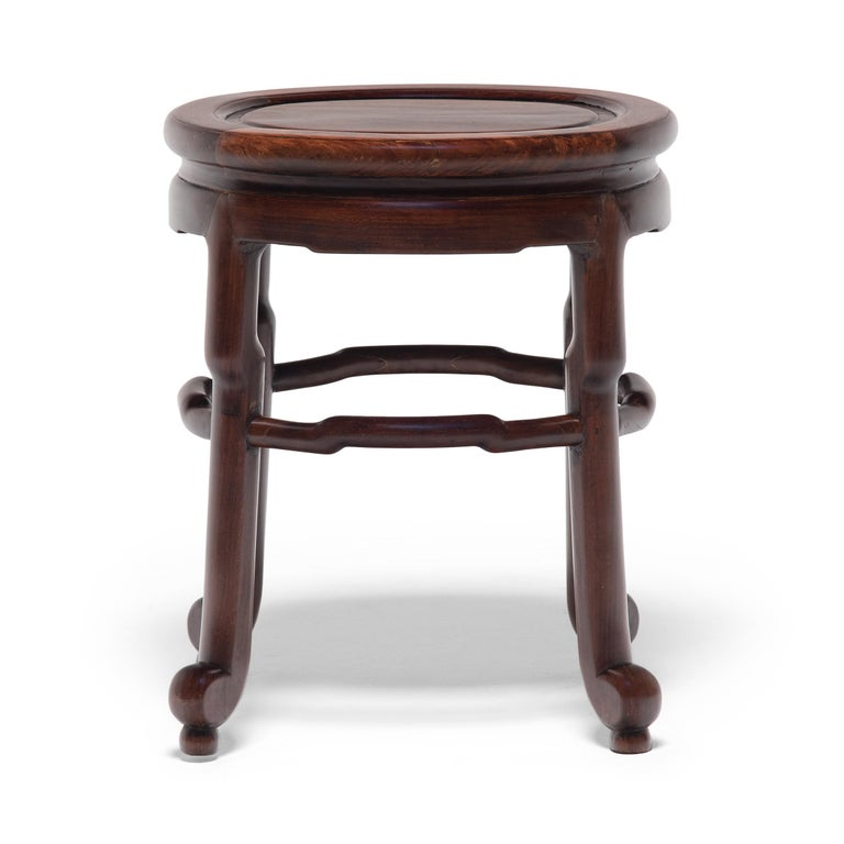Pair of Chinese Art Deco Oval Stools, c. 1900 For Sale 5