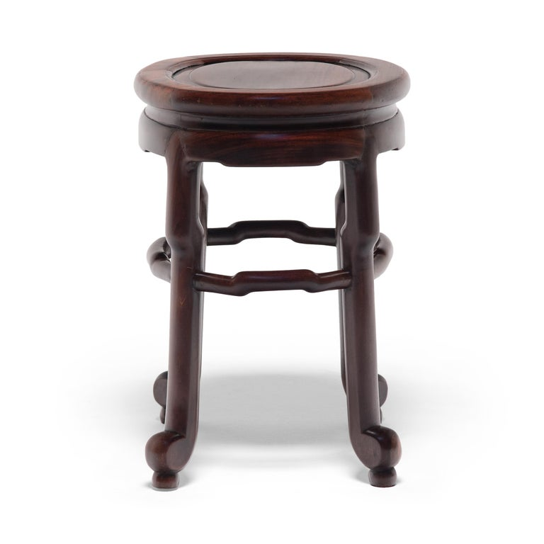 Pair of Chinese Art Deco Oval Stools, c. 1900 For Sale 6