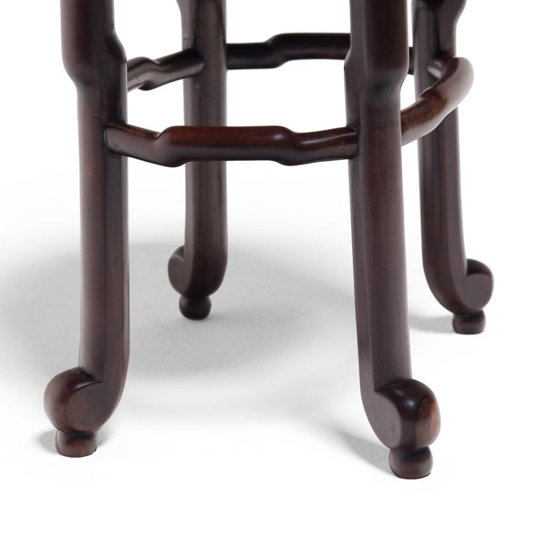 Pair of Chinese Art Deco Oval Stools, c. 1900 For Sale 8