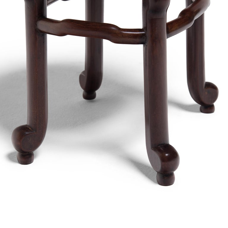 Pair of Chinese Art Deco Oval Stools, c. 1900 For Sale 2