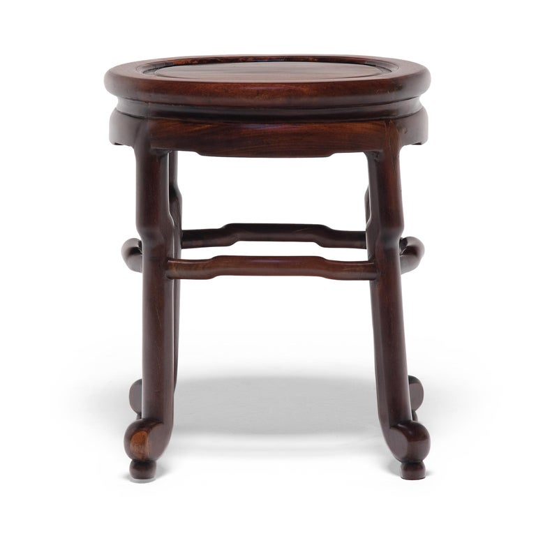 Pair of Chinese Art Deco Oval Stools, c. 1900 For Sale 3