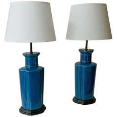 Pair of Chinese Porcelain Table Lamps