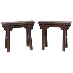 Pair of Chinese Carriage Benches
