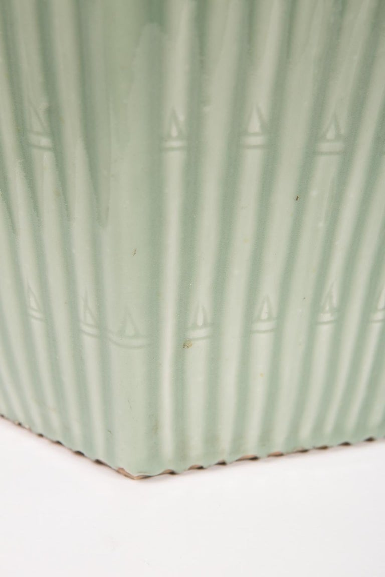 Pair of Chinese Celadon Garden Seats  In Excellent Condition For Sale In New York, NY