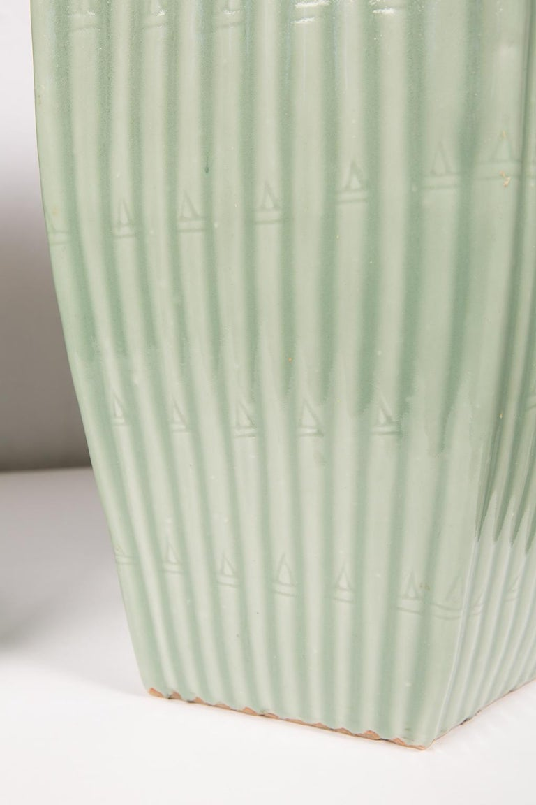 Pair of Chinese Celadon Garden Seats  For Sale 1