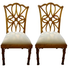 Chinese Modern Style Pair Of Chairs At 1stdibs