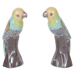 Pair of Chinese Cloisonné Birds