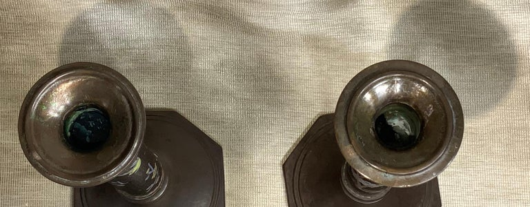 Pair of Chinese Cloisonné Candleholders For Sale 7