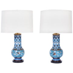 Pair of Chinese Cloisonné Table Lamps