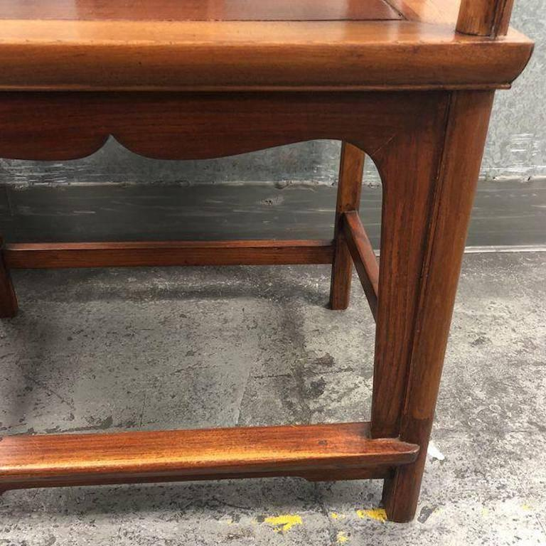 Beau Pair Of Chinese Elm Wood Chairs In Good Condition For Sale In San  Francisco, CA