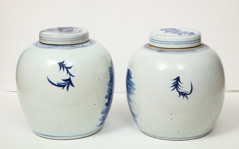 Pair of Chinese Export Ginger Jars For Sale 9