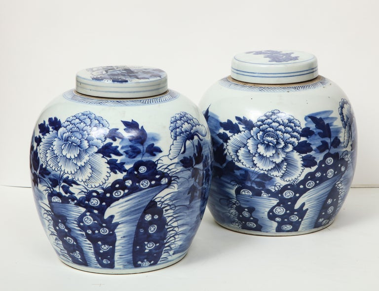 Pair of Chinese Export Ginger Jars For Sale 11