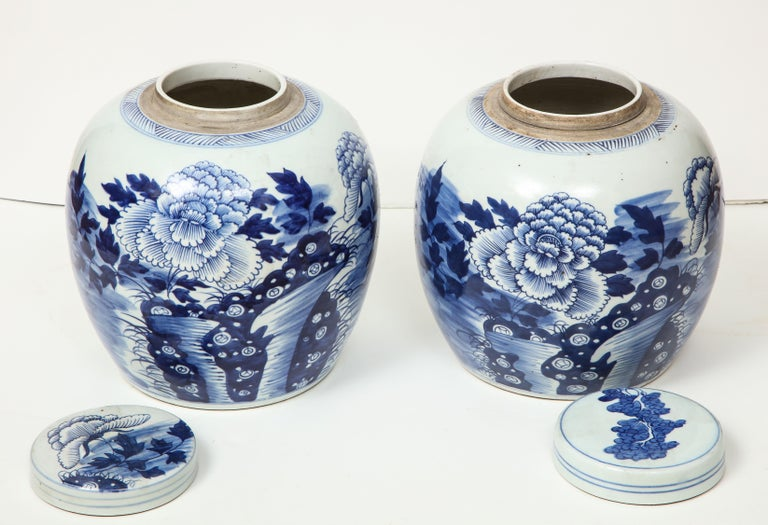 Pair of Chinese Export Ginger Jars For Sale 13